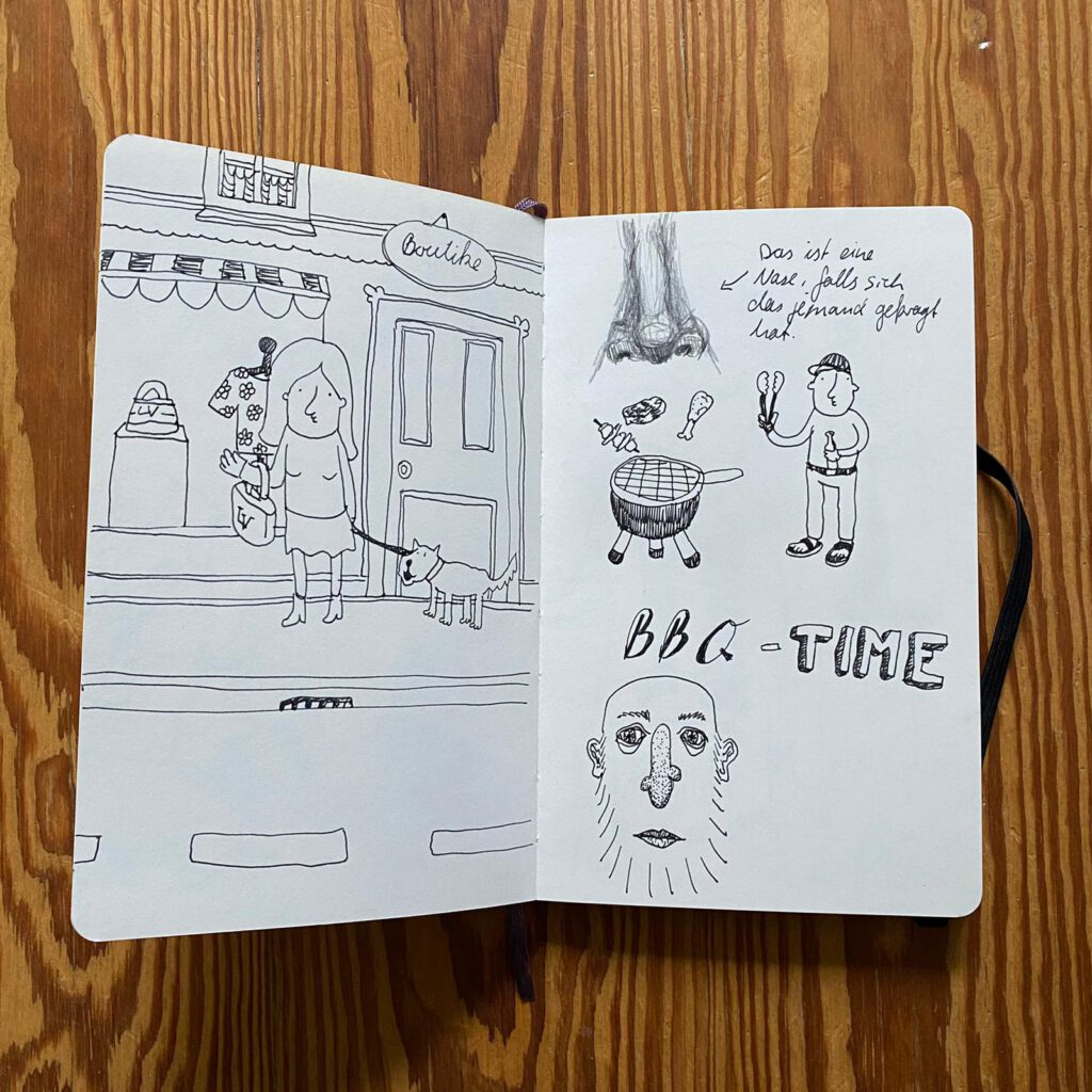 Eine Seite aus meinem Notizbuch