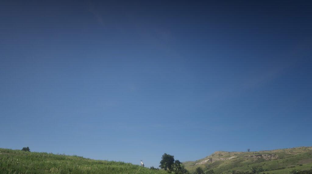 Blauer Himmel in Red Dead Redemption 2